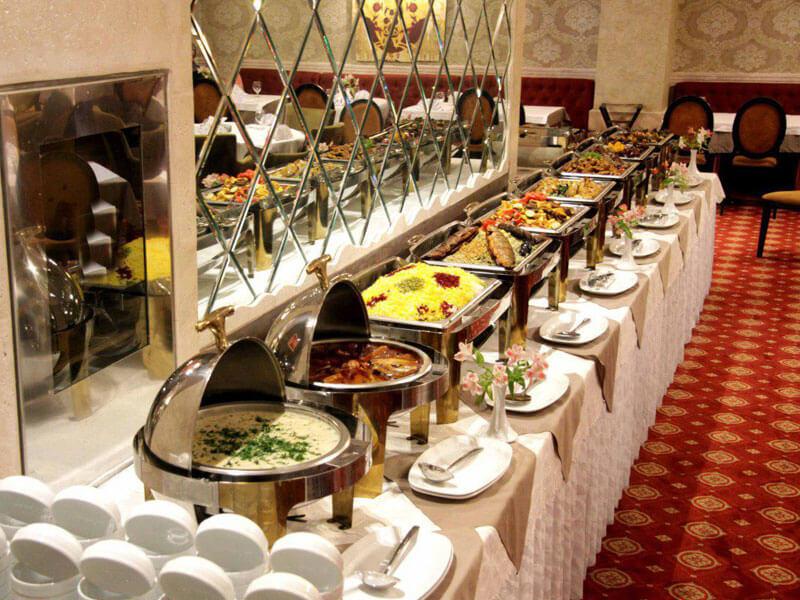 بوفه غذا هتل رفاه مشهد