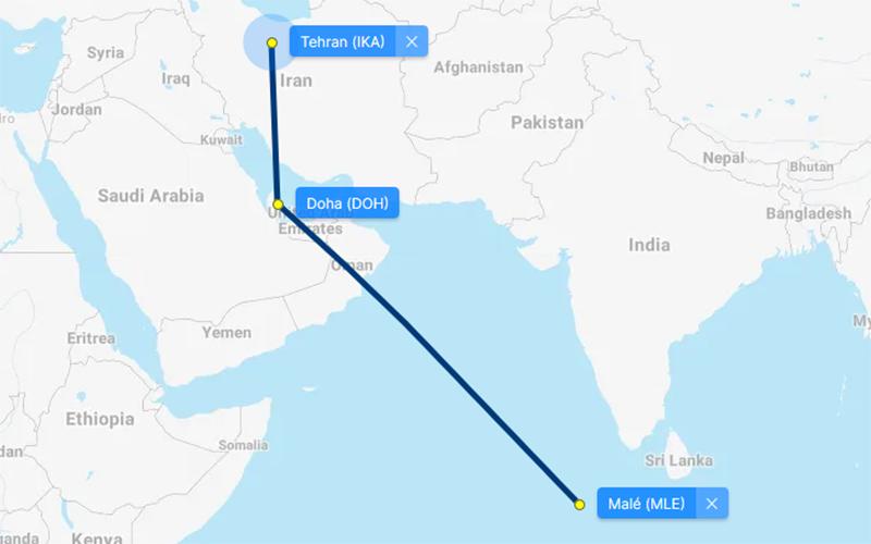 راههای سفر به مالدیو